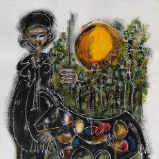 Arte: FERNANDO PEREIRA (A CORUÑA, 1959). PASTOR. TÉCNICA MIXTA SOBRE LIENZO.. Lote 140468782