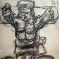 Arte: LAXEIRO. XOSÉ OTERO ABELEDO. (LALÍN, 1908 - VIGO 1996) CARBÓN SOBRE PAPEL. Lote 140471842