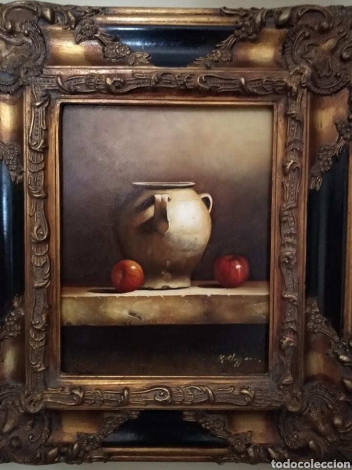 JARRON CON MANZANAS. K. MEZZAN (Arte - Pintura - Pintura al Óleo Contemporánea )