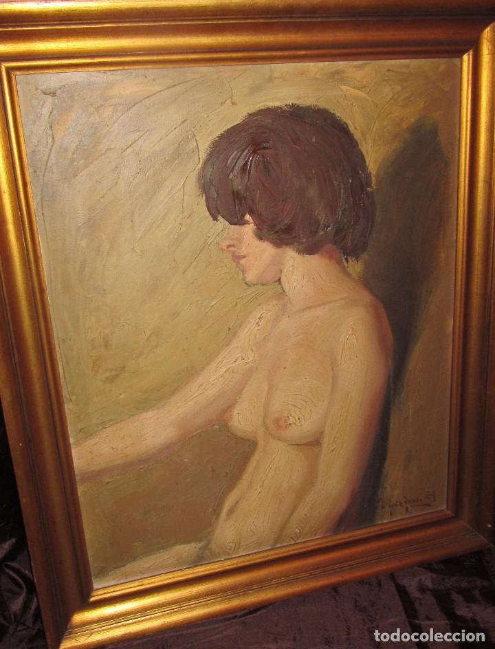 ÓLEO SOBRE LIENZO DESNUDO 77X66 DE TORO DE JUANAS (Arte - Pintura - Pintura al Óleo Moderna sin fecha definida)