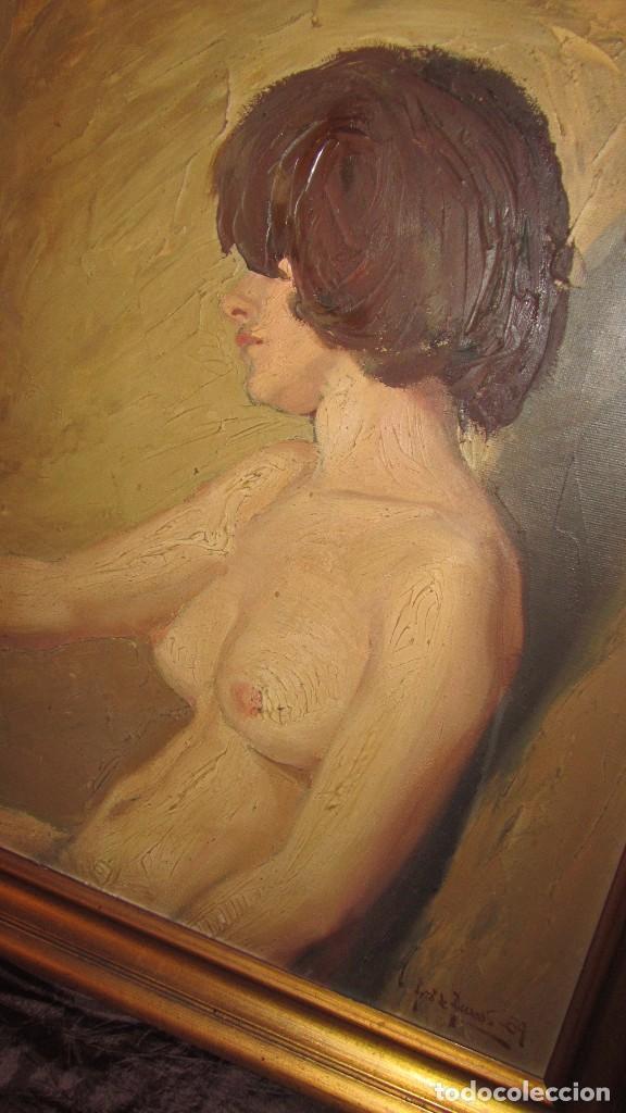 Arte: Óleo sobre lienzo desnudo 77x66 de TORO DE JUANAS - Foto 2 - 140509682