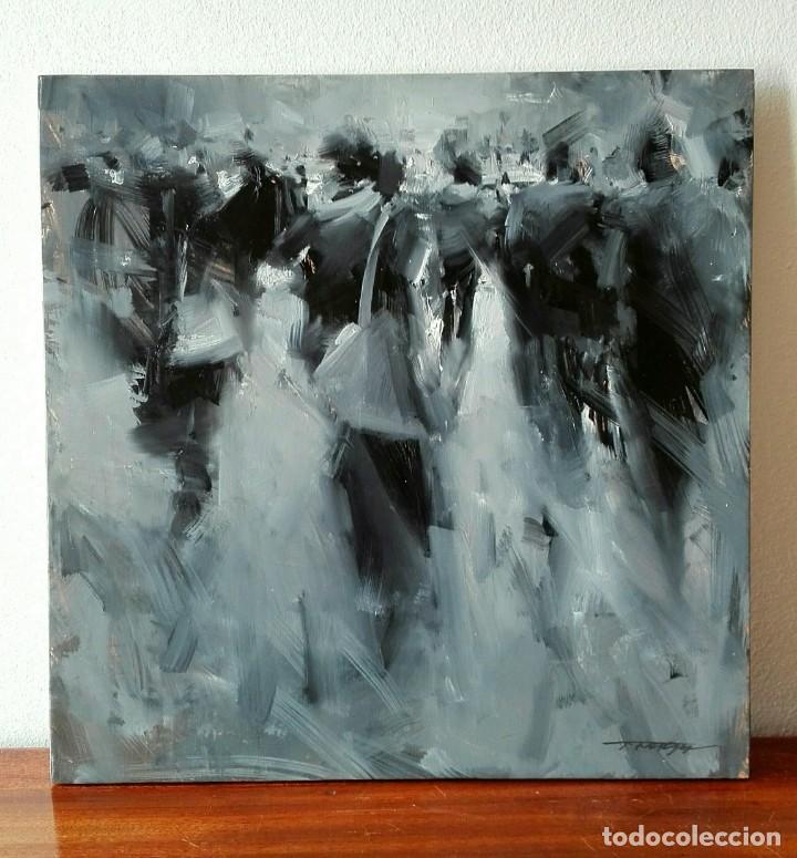 OLEO SOBRE TELA. TIBOR NAGY. GHOST TOWN - CIUDAD FANTASMA (Arte - Pintura - Pintura al Óleo Contemporánea )