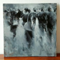 Arte: OLEO SOBRE TELA. TIBOR NAGY. GHOST TOWN - CIUDAD FANTASMA. Lote 140513354