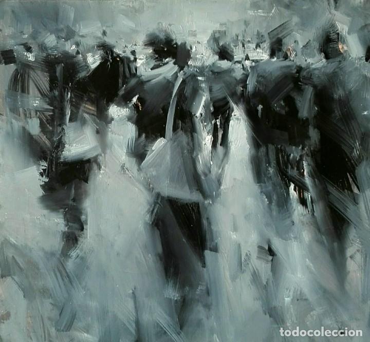 Arte: Oleo sobre Tela. Tibor Nagy. Ghost Town - Ciudad Fantasma - Foto 2 - 140513354