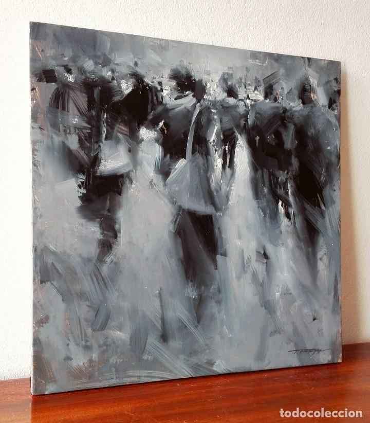 Arte: Oleo sobre Tela. Tibor Nagy. Ghost Town - Ciudad Fantasma - Foto 3 - 140513354