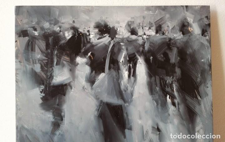 Arte: Oleo sobre Tela. Tibor Nagy. Ghost Town - Ciudad Fantasma - Foto 5 - 140513354