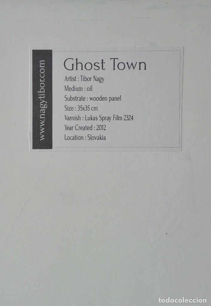 Arte: Oleo sobre Tela. Tibor Nagy. Ghost Town - Ciudad Fantasma - Foto 8 - 140513354