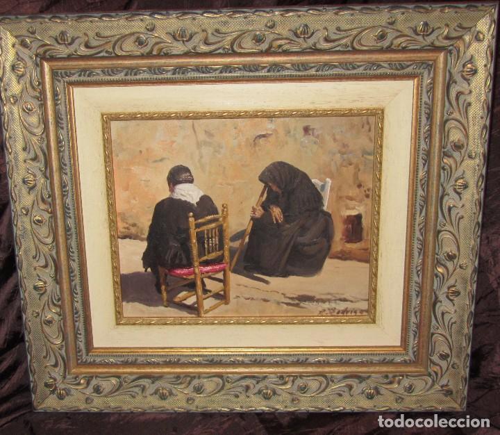 ÓLEO SOBRE TABLA DE JOSE LUIS RAMOS RODRIGO, R. RODRIGO (Arte - Pintura - Pintura al Óleo Moderna sin fecha definida)