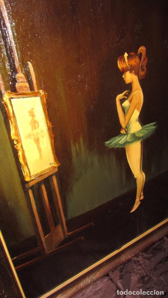 Arte: Óleo sobre lienzo de Joaquín Aracil García - J. Arga - El arte de la danza - Foto 3 - 140529530