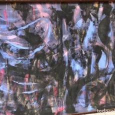 Arte: ABSTRACTO CONTEMPORANEO EN TONOS AZULES Y NEGROS, TERESA BLANCO DEL PIÑAL. Lote 140534666