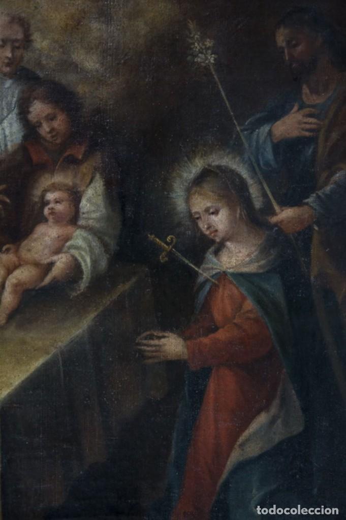 Arte: ÓLEO S/LIENZO -CIRCUNCISIÓN DEL NIÑO JESÚS-. ESCUELA EXPAÑOLA S. XVII. 90X76 CMS MIDIENDO EL MARCO - Foto 3 - 140551102