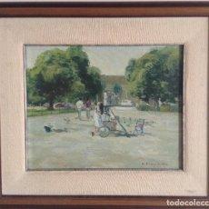 Arte: OLEO SOBRE LIENZO RAMBAS COLON BARCELONA PASCUAL FRESQUET ALMURIN (1930). Lote 140573298