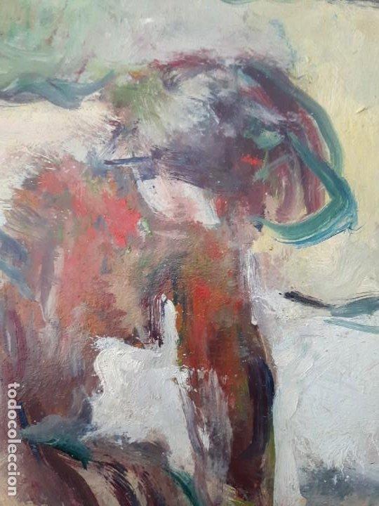 Arte: Cuadro Óleo impresionista Frances Firmado estilo Degas - Foto 2 - 140590386