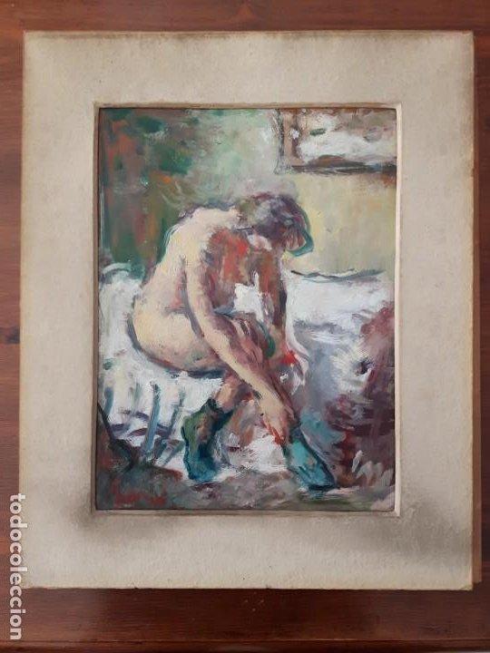 Arte: Cuadro Óleo impresionista Frances Firmado estilo Degas - Foto 3 - 140590386
