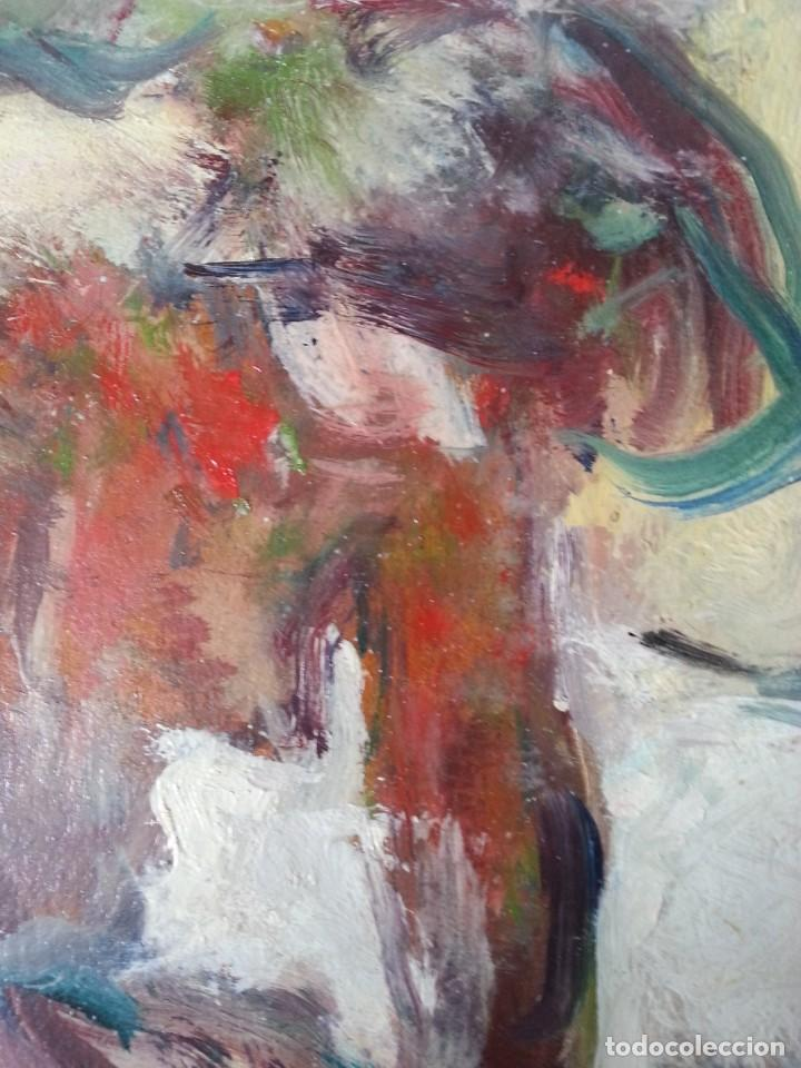 Arte: Cuadro Óleo impresionista Frances Firmado estilo Degas - Foto 8 - 140590386