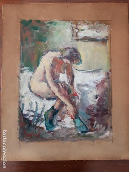 CUADRO ÓLEO IMPRESIONISTA FRANCES FIRMADO ESTILO DEGAS (Arte - Pintura - Pintura al Óleo Antigua sin fecha definida)