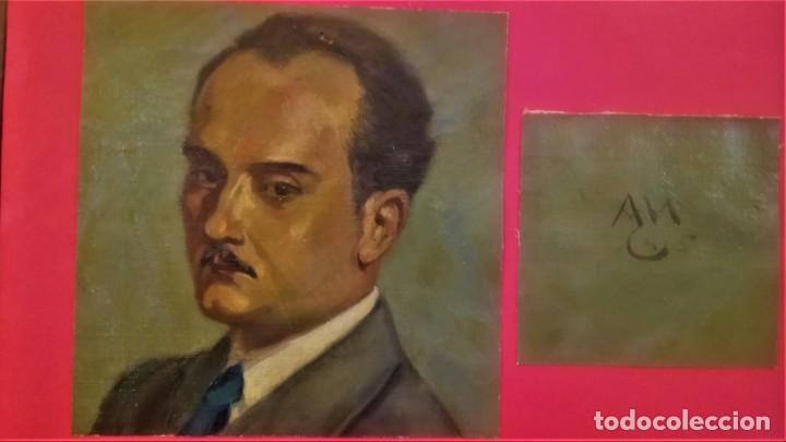 PINTURA,OLEO SOBRE TELA DE ANTONI MUNTAÑOLA CARNER,DIBUJANTE PATUFET Y EDITOR LIBROS INFANTILES 1945 (Arte - Pintura - Pintura al Óleo Contemporánea )