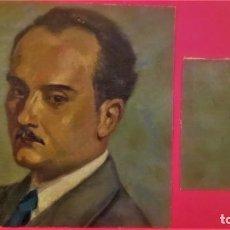Arte: PINTURA,OLEO SOBRE TELA DE ANTONI MUNTAÑOLA CARNER,DIBUJANTE PATUFET Y EDITOR LIBROS INFANTILES 1945. Lote 140591154