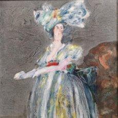 Arte: ABELENDA, ALFONSO (A CORUÑA, 1931). LA DAMA. TÉCNICA MIXTA SOBRE CARTÓN. Lote 140712218