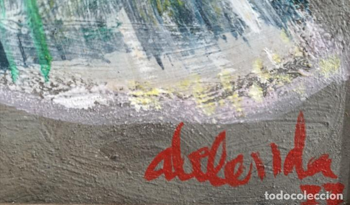 Arte: Abelenda, Alfonso (A Coruña, 1931). La dama. Técnica mixta sobre cartón - Foto 4 - 140712218