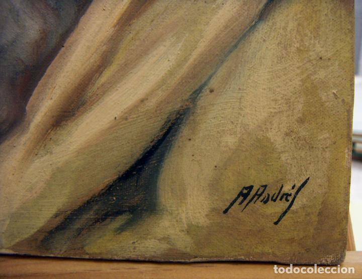 Arte: OLEO FIRMADO A.ANDRES CON MARCO - Foto 5 - 140751210