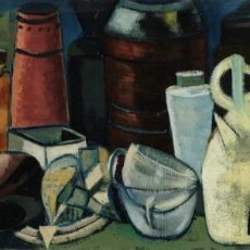 Arte: ISABEL SERRAHIMA (1934-1999) ÓLEO SOBRE LIENZO BODEGÓN OBJETOS FIRMADO. Lote 140765206