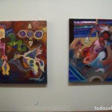 Arte: CONJUNTO DE 2 CUADROS AL OLEO ORIGINALES. Lote 140768406