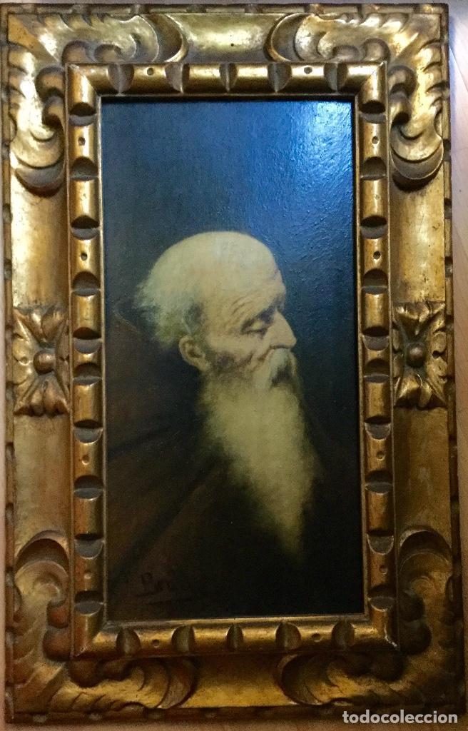 Arte: JOAN BRULL VINYOLES Óleo con retrato masculino del REPRESENTANTE DEL SIMBOLISMO CATALÁN - Foto 2 - 140769206