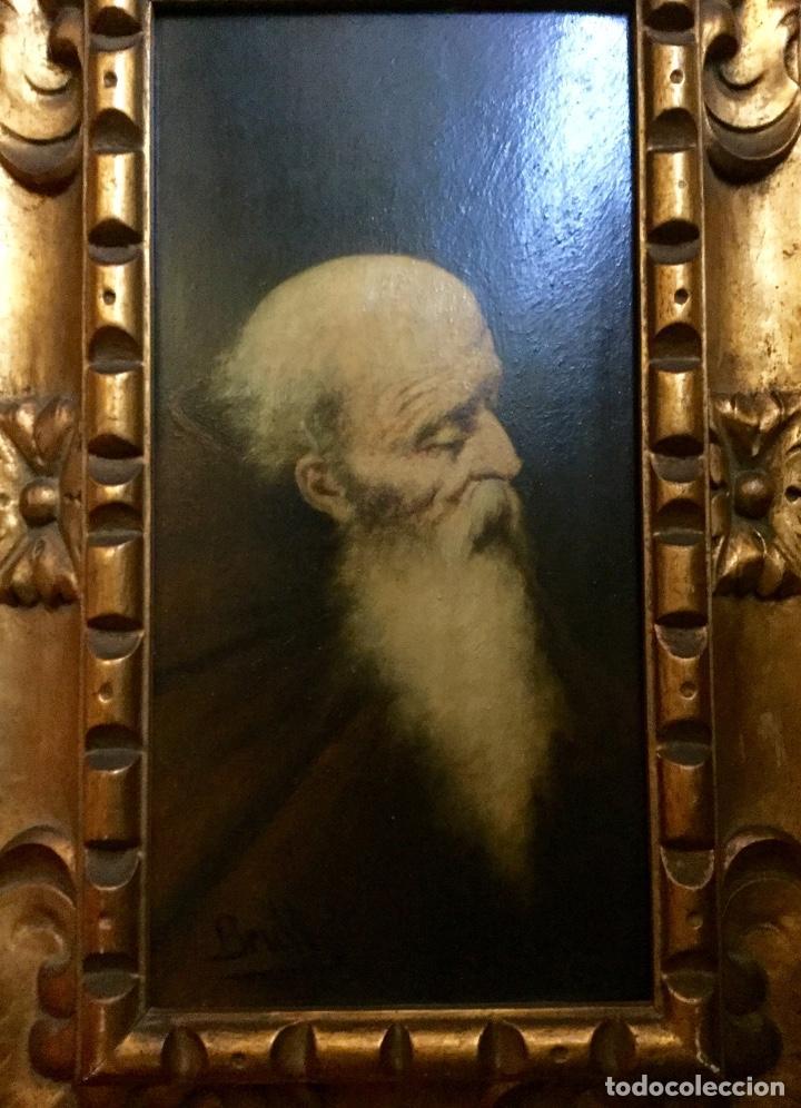 Arte: JOAN BRULL VINYOLES Óleo con retrato masculino del REPRESENTANTE DEL SIMBOLISMO CATALÁN - Foto 3 - 140769206