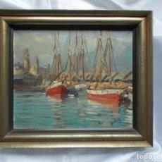 Arte: RAMÓN MAS MAS (1911-1989). PRECIOSO ÓLEO SOBRE LIENZO. ETIQUETA DE LA SALA GASPAR.. Lote 140783946