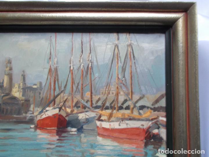 Arte: RAMÓN MAS MAS (1911-1989). PRECIOSO ÓLEO SOBRE LIENZO. ETIQUETA DE LA SALA GASPAR. - Foto 3 - 140783946