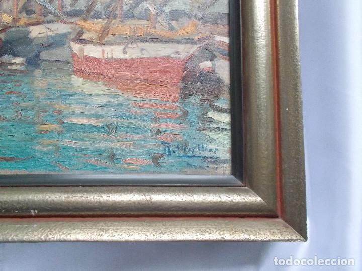 Arte: RAMÓN MAS MAS (1911-1989). PRECIOSO ÓLEO SOBRE LIENZO. ETIQUETA DE LA SALA GASPAR. - Foto 4 - 140783946