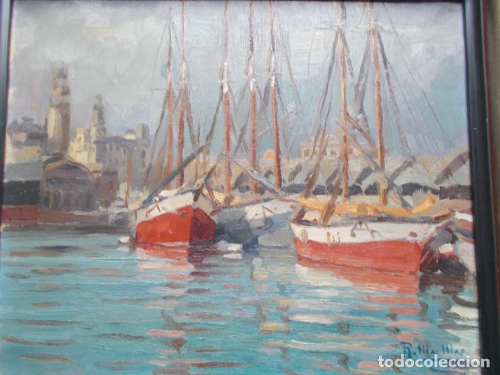 Arte: RAMÓN MAS MAS (1911-1989). PRECIOSO ÓLEO SOBRE LIENZO. ETIQUETA DE LA SALA GASPAR. - Foto 8 - 140783946