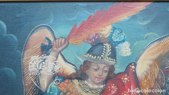 Art: PRECIOSO ARCANGEL SAN MIGUEL. OLEO S/ LIENZO. ESCUELA CUZQUEÑA - Foto 6 - 140794250