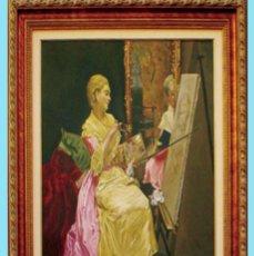 Arte: MADRAZO, FEDERICO.- REPLICA AL OLEO SOBRE LIENZO POR F.G. MANTILLA, FDO. 105 X 75 CM. ENMARCADO LUJO. Lote 140799962
