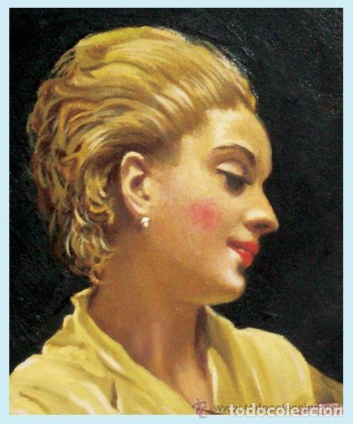 Arte: MADRAZO, FEDERICO.- REPLICA AL OLEO SOBRE LIENZO POR F.G. MANTILLA, FDO. 105 X 75 CM. ENMARCADO LUJO - Foto 2 - 140799962