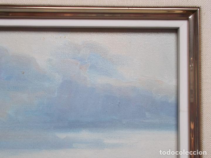 Arte: ESPECTACULAR MARINA DE JOSEP COLOMER VALLS. ÓLEO SOBRE TELA. - Foto 5 - 140803214