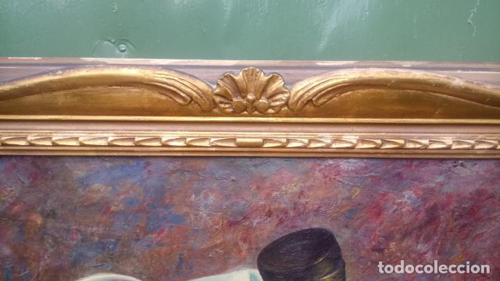 Arte: Antiguo cuadro pintado al oleo de un bodegón del pintor Vicente Folgado Forteza del año 1949 - Foto 11 - 140807302