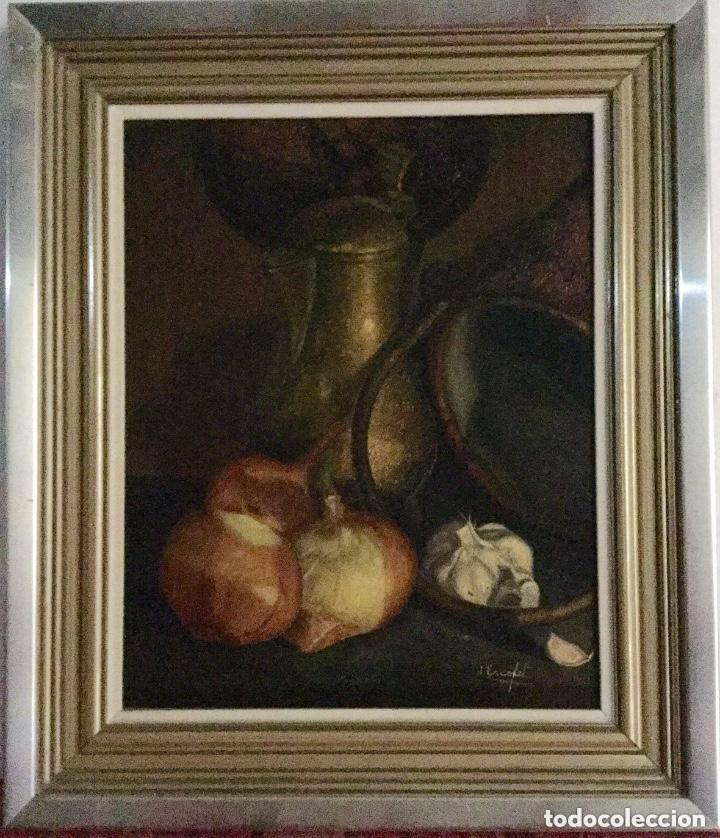 BODEGÓN DE JOSÉ ESCOFET (BARCELONA 1930) (Arte - Pintura - Pintura al Óleo Contemporánea )
