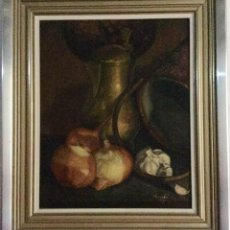 Arte: BODEGÓN DE JOSÉ ESCOFET (BARCELONA 1930). Lote 140811894