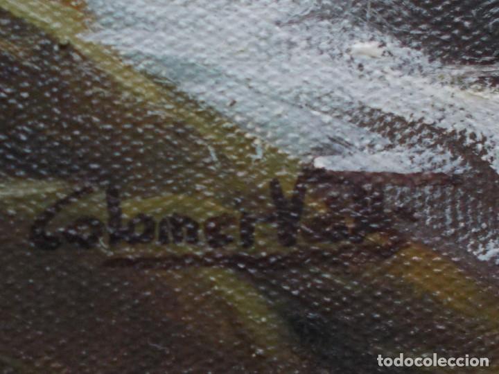 Arte: ESPECTACULAR MARINA DE JOSEP COLOMER VALLS. ÓLEO SOBRE TELA. - Foto 11 - 140803214