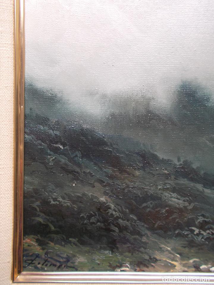 Arte: JOSEP COLOMER COMAS (1935-2003). NIEBLA, ÓLEO SOBRE TELA. ESCUELA DE OLOT. - Foto 3 - 140835842