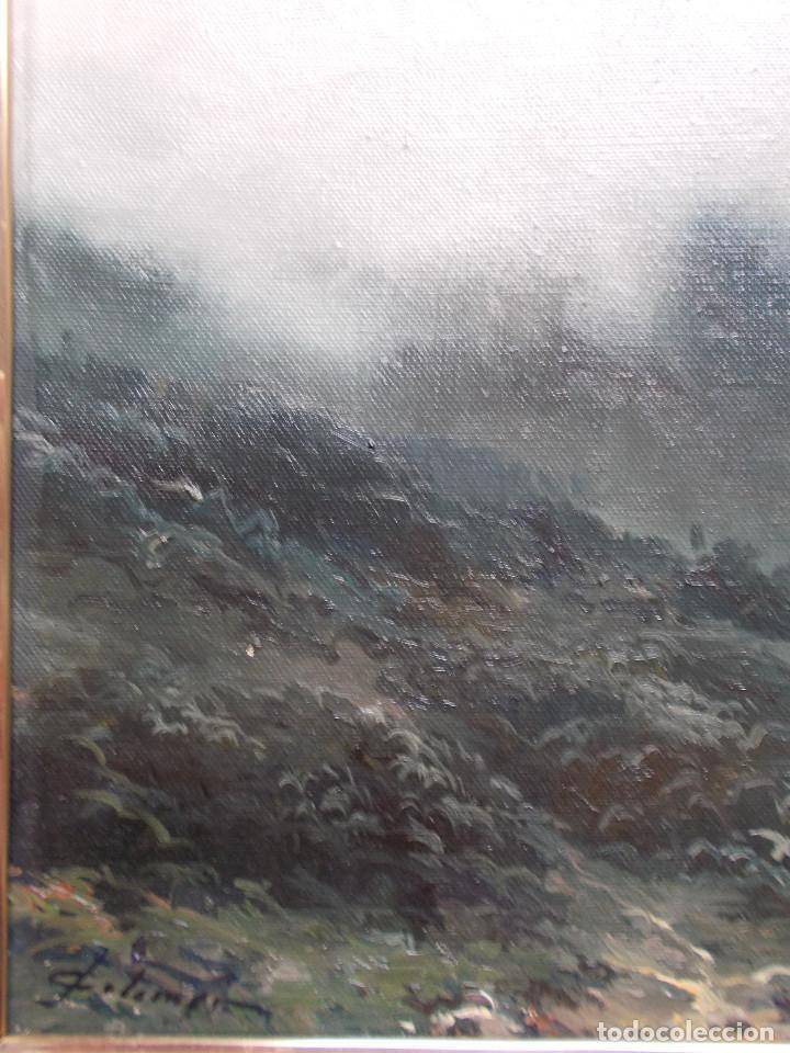 Arte: JOSEP COLOMER COMAS (1935-2003). NIEBLA, ÓLEO SOBRE TELA. ESCUELA DE OLOT. - Foto 9 - 140835842