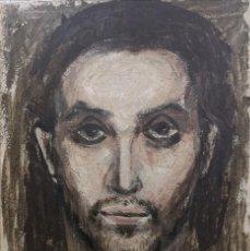Arte: MARIANO GARCÍA PATIÑO (A CORUÑA, 1915) ROSTRO. TÉCNICA MIXTA SOBRE TABLERO. Lote 140859990