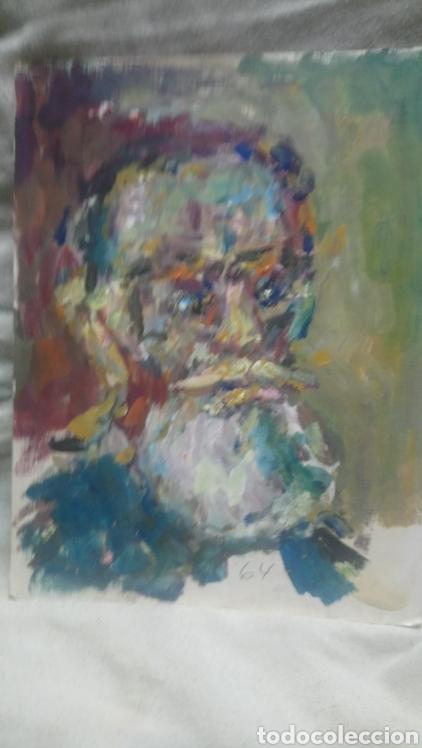 RETRATO ANTIGUO HOMBRE DE PUEBLO (Arte - Pintura - Pintura al Óleo Contemporánea )