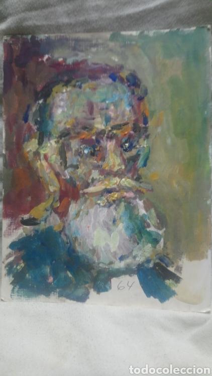 Arte: retrato antiguo hombre de pueblo - Foto 4 - 140895232