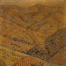 Arte: DIONISIO AZCUE. 1885-1964. TITULO: PAISAJE. OLEO-LIENZO. MEDIDAS: 51*42CM. ENMARCADO. Lote 140922314