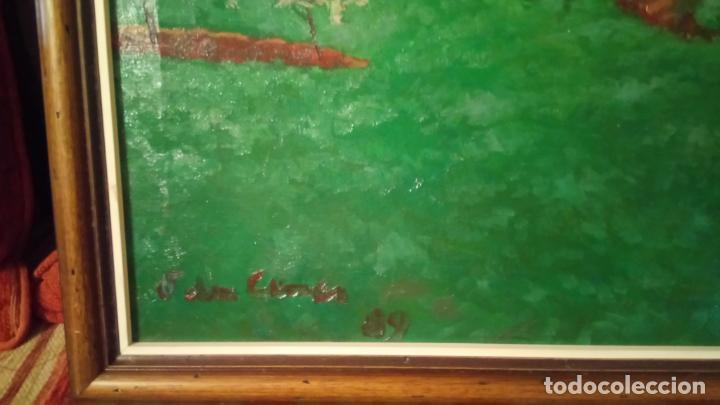 Arte: Antiguo cuadro pintado al oleo por el pintor Josep Vila closes de Manresa años 80-90 - Foto 8 - 140951046