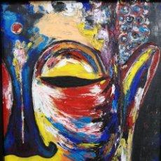 Arte: SILVIA YAÑEZ. BUDA. ACRÍLICO SOBRE LIENZO. Lote 140981206