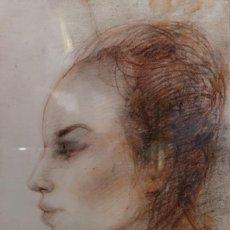 Arte: QUESADA, XAIME (OURENSE, 1937 - 2007). RETRATO. TÉCNICA MIXTA SOBRE PAPEL. Lote 140983978